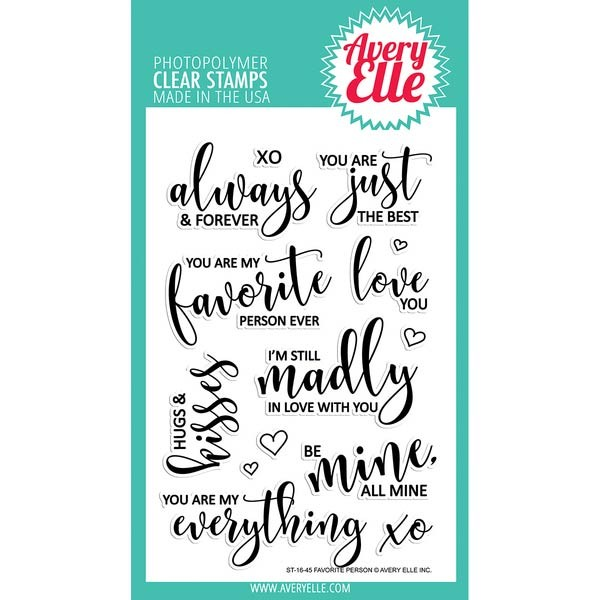 Avery Elle Favorite Person Clear Stamp Set