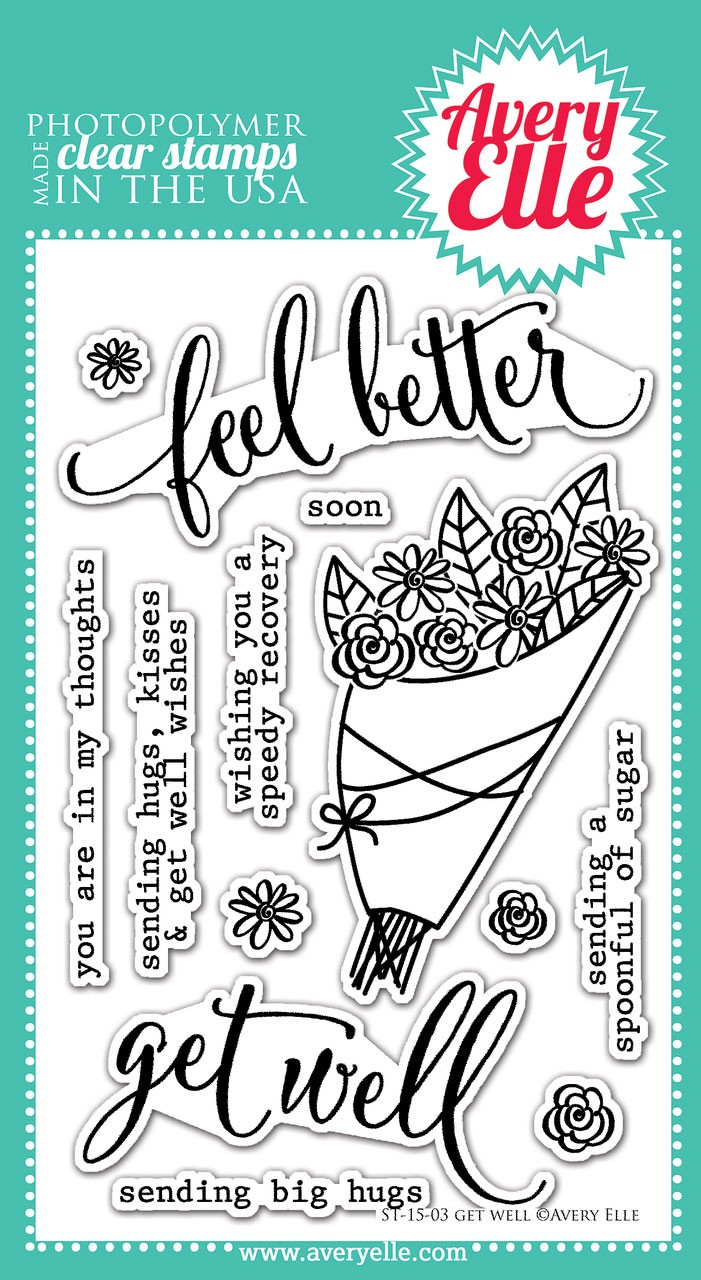 avery elle get well clear stamps