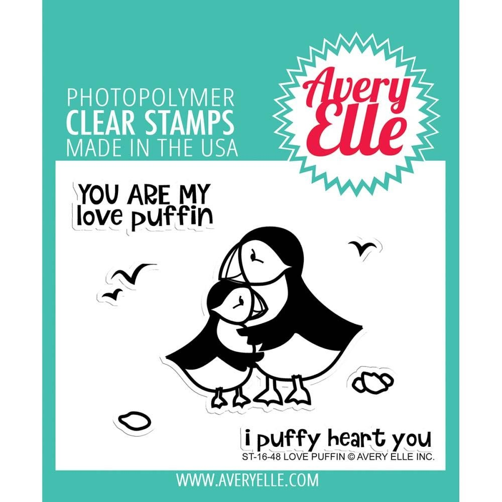 Avery Elle Love Puffin Clear Stamp Set