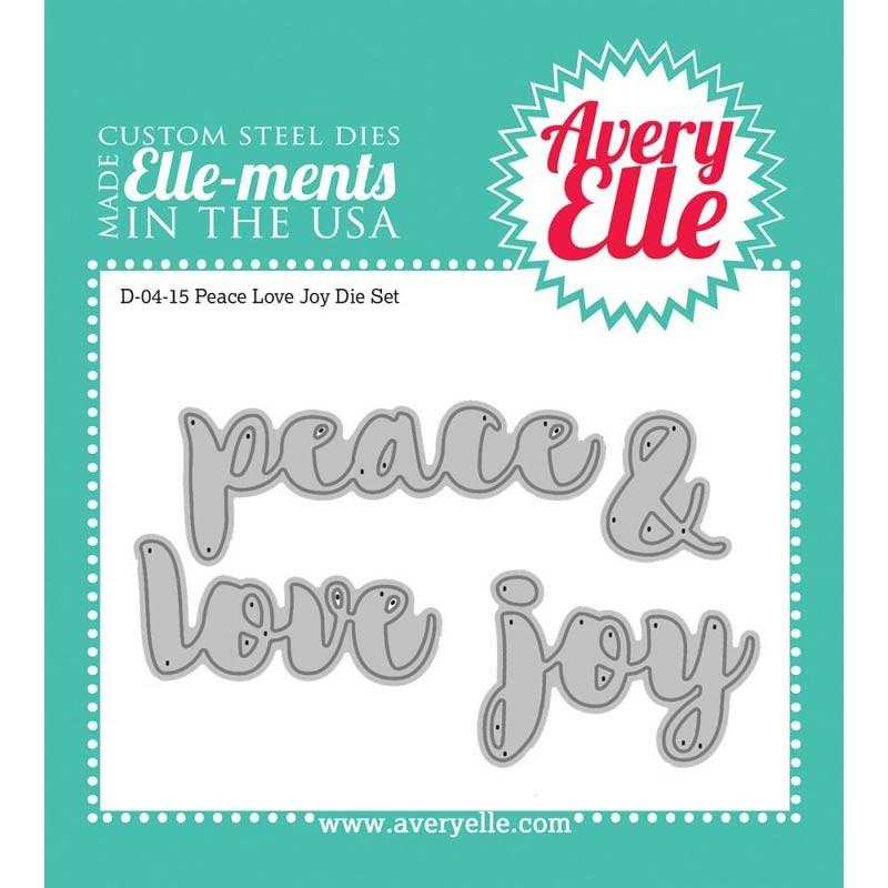 Avery Elle Peace Love Joy Die Set