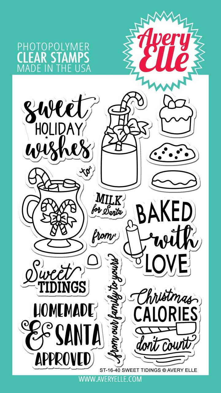 Avery Elle Sweet Tidings Clear Stamps