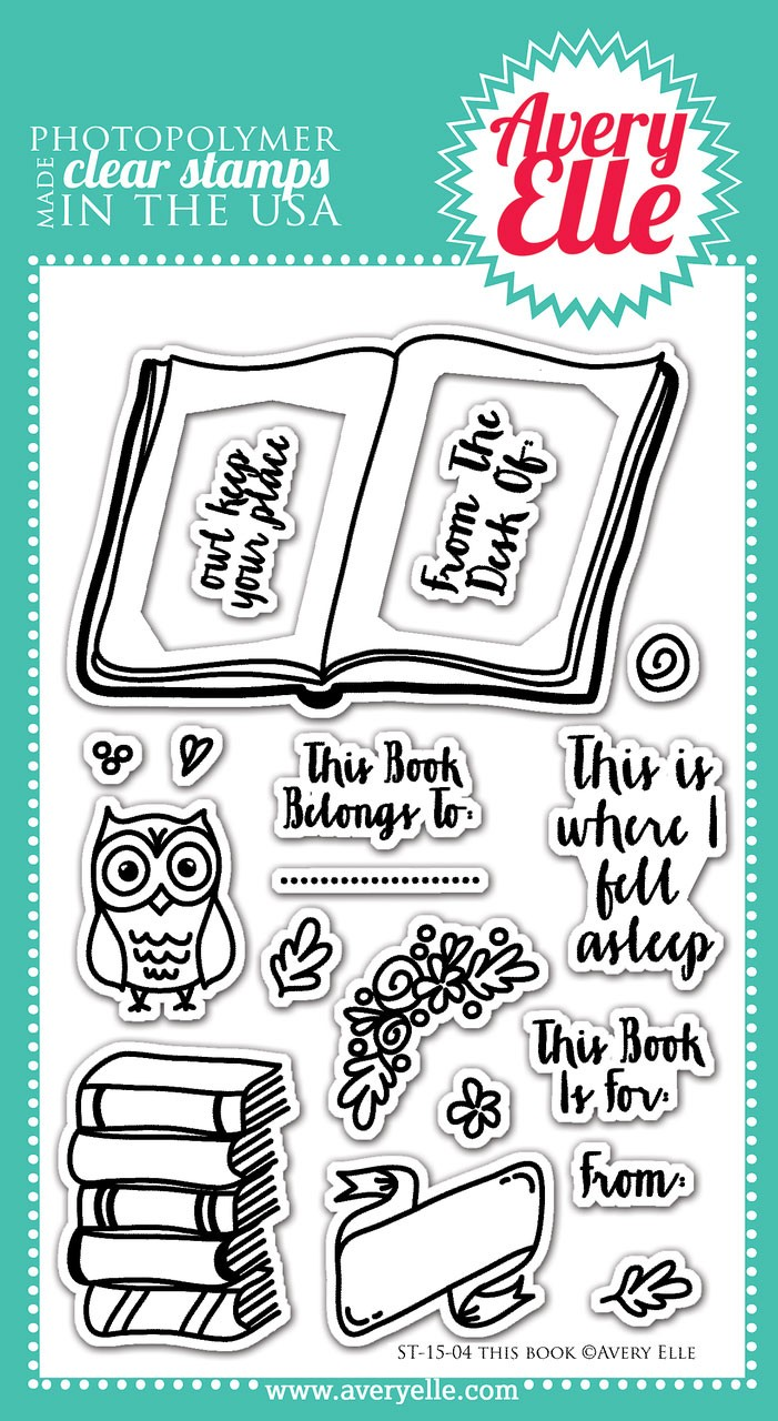 avery elle this book clear stamps
