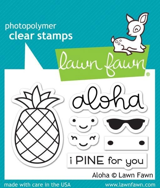 Lawn Fawn Aloha Clear Stamp Set