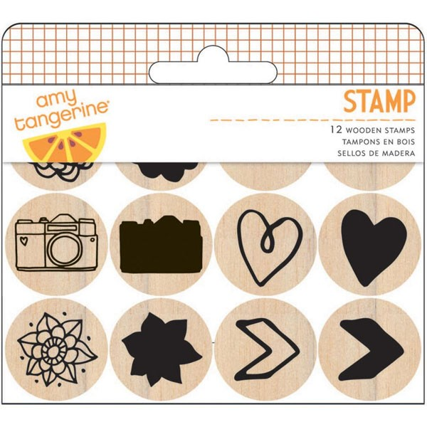 Amy Tan Rise & Shine Mounted Stamps