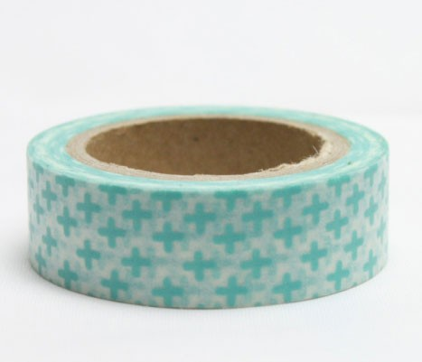 Aqua Crosses Washi Tape