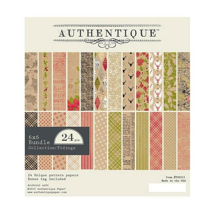 Authentique Tidings 6x6 Paper Pack
