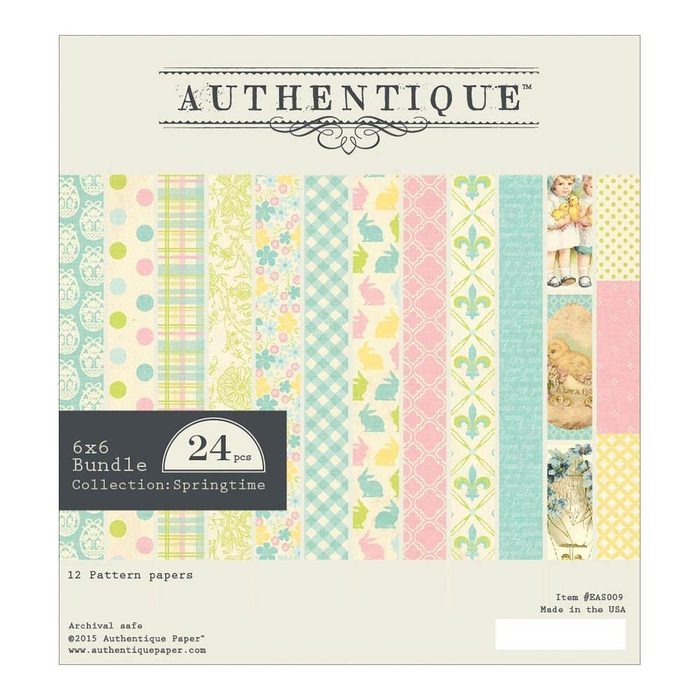 """Authentique Springtime Bundle Double-Sided Cardstock Pad 6""""X6"""""""