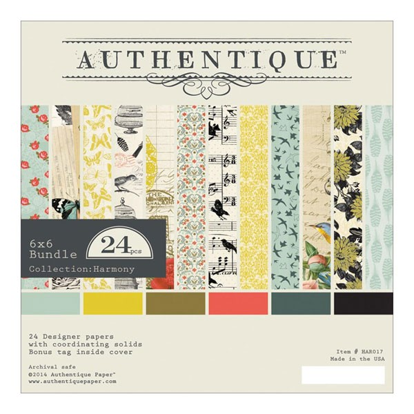 Authentique Harmony 6x6 Paper pack