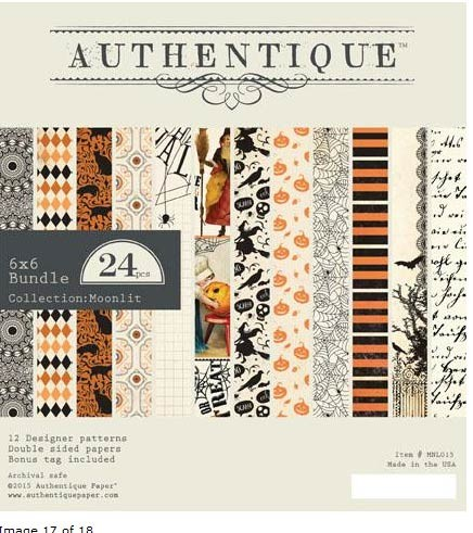 Authentique Moonlit 6x6 Paper Pack