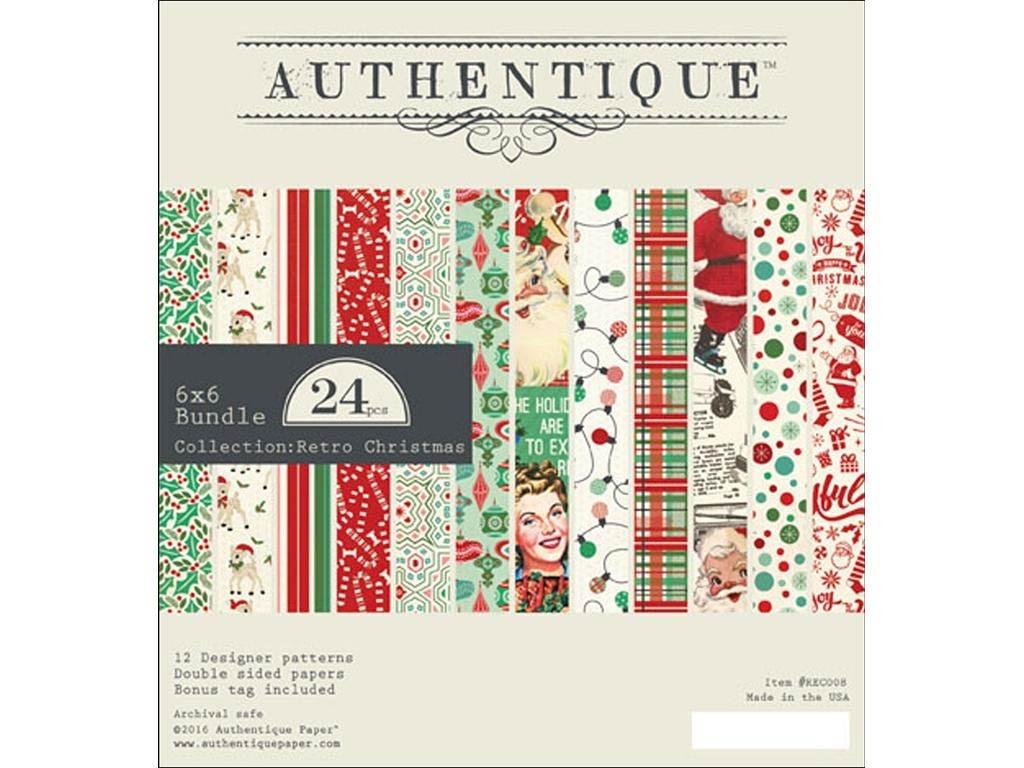Authentique Retro Christmas Paper Pack