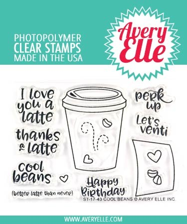 Avery Elle Cool Beans Clear Stamps