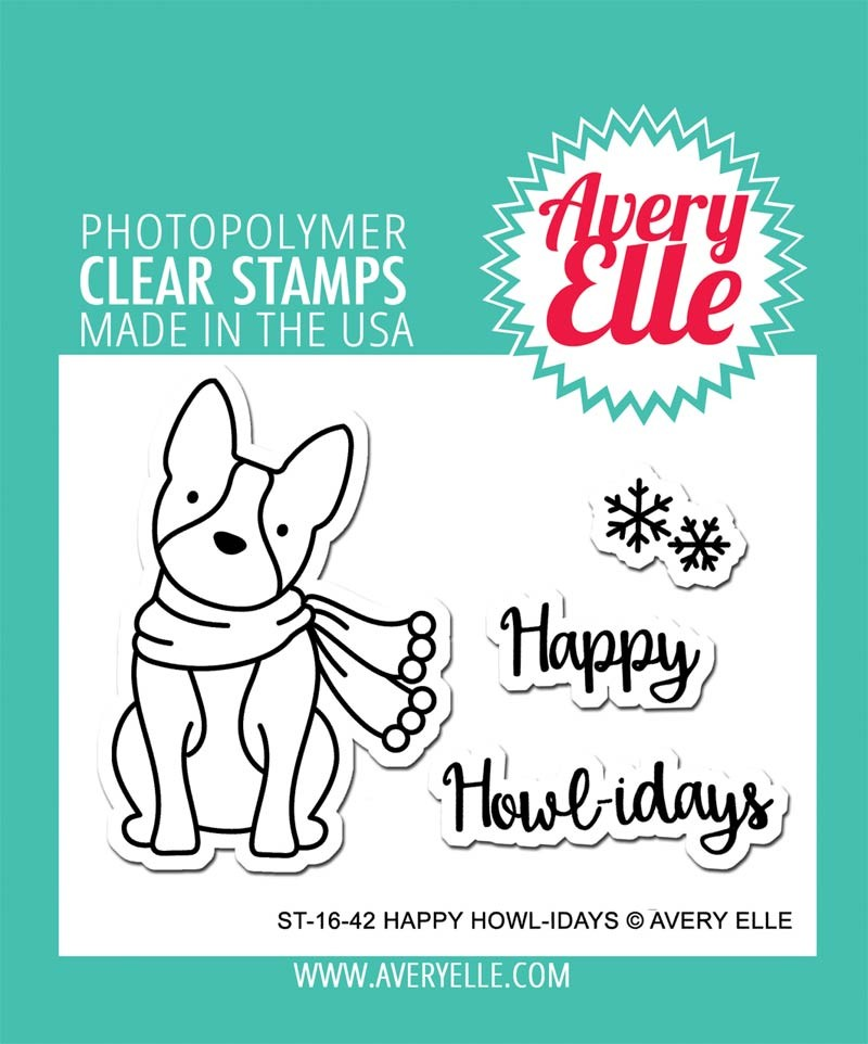 Avery Elle Happy Howl-idays Clear Stamps