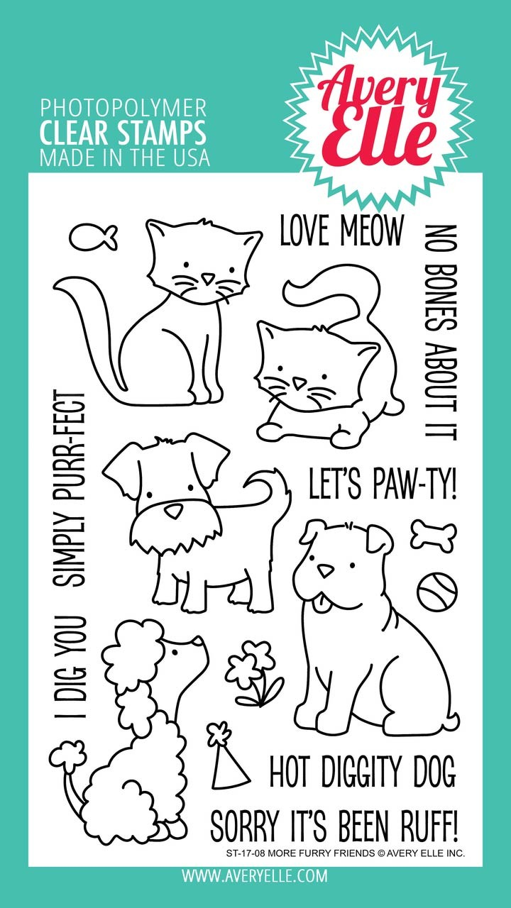 Avery Elle More Furry Friends Clear Stamp Set