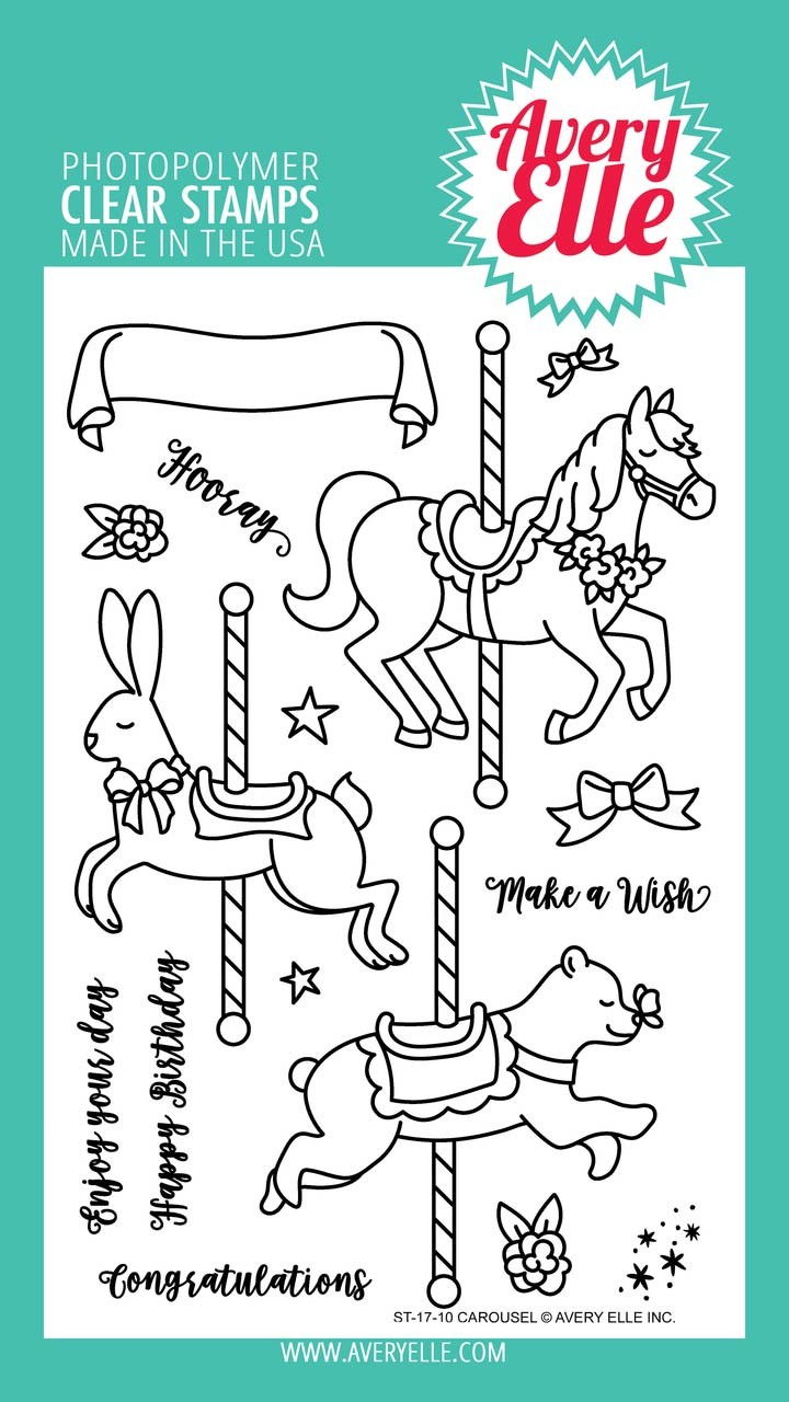 Avery Elle Carousel Clear Stamps