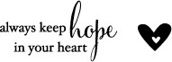 Hope in Your Heart (B2058)