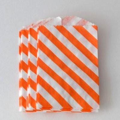 mini bags - orange diagonal stripe