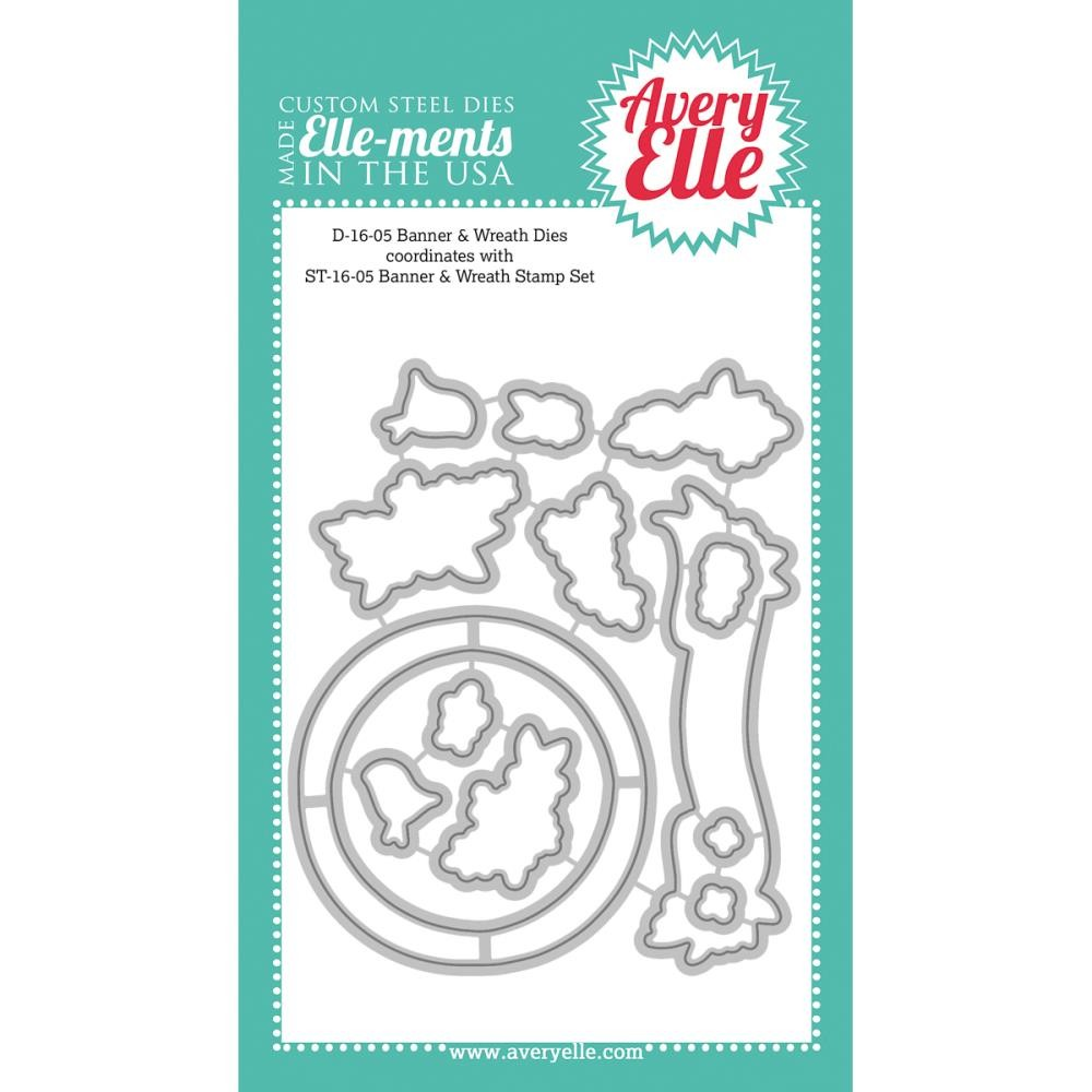 Avery Elle Banner and Wreath Dies