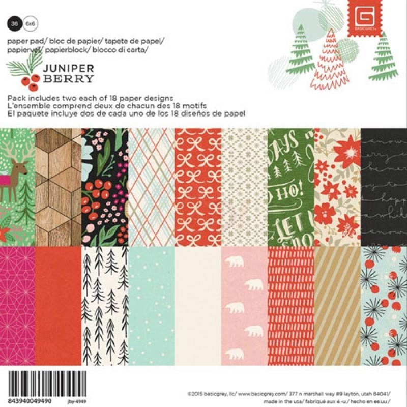 Basic Grey Juniper Berry 6x6 Paper Pack