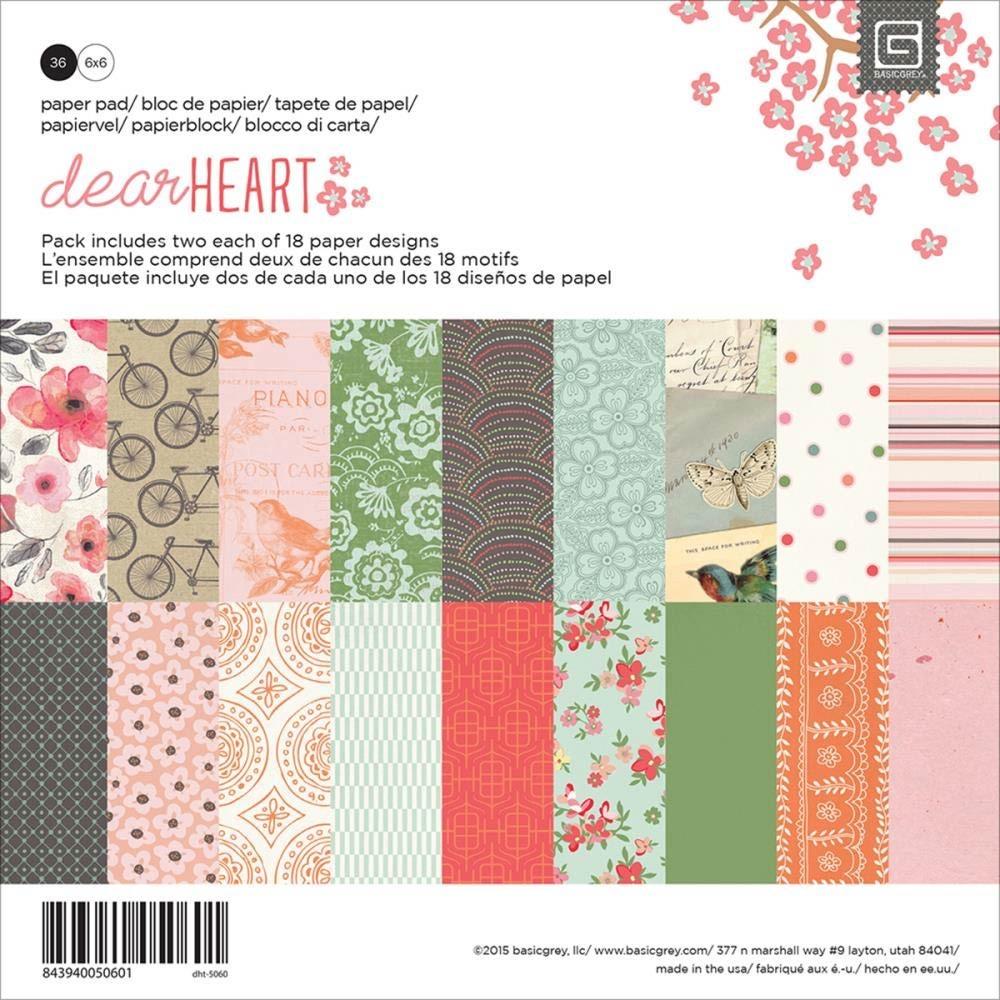 Basic Grey Dear Heart 6x6