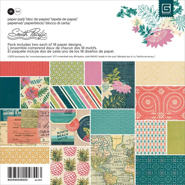 South Pacific 6x6 Paper Pack
