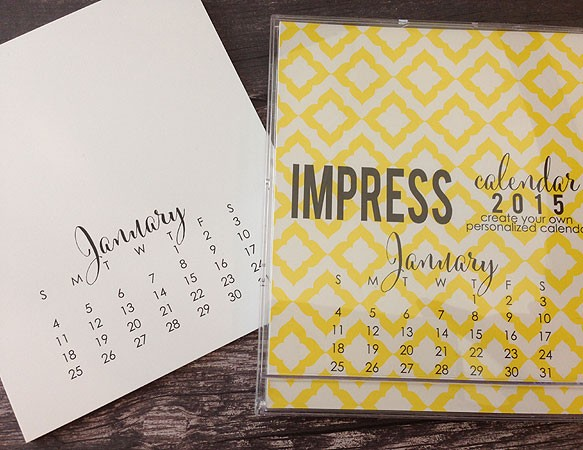 Impress 2015 Large Calendar