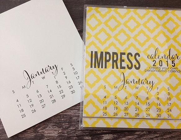 2015 Large Calendar Refill
