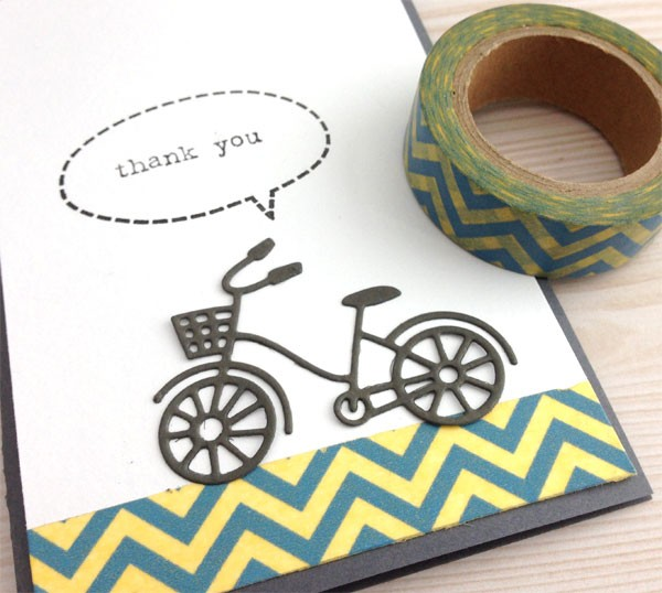 Blue and Yellow Chevron Tape