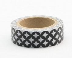 Black Circle Pattern Washi Tape