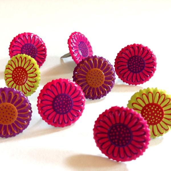 Bright Flower Brads
