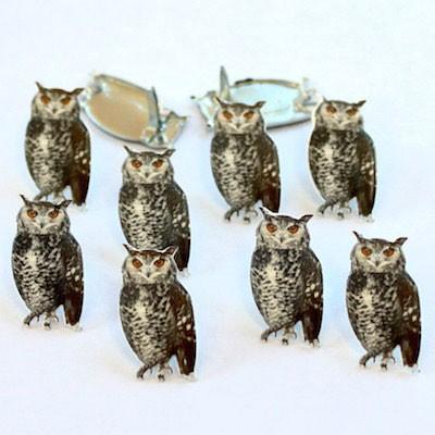 Realistic Owl Brads
