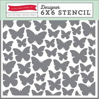 Echo Park Butterfly Stencil