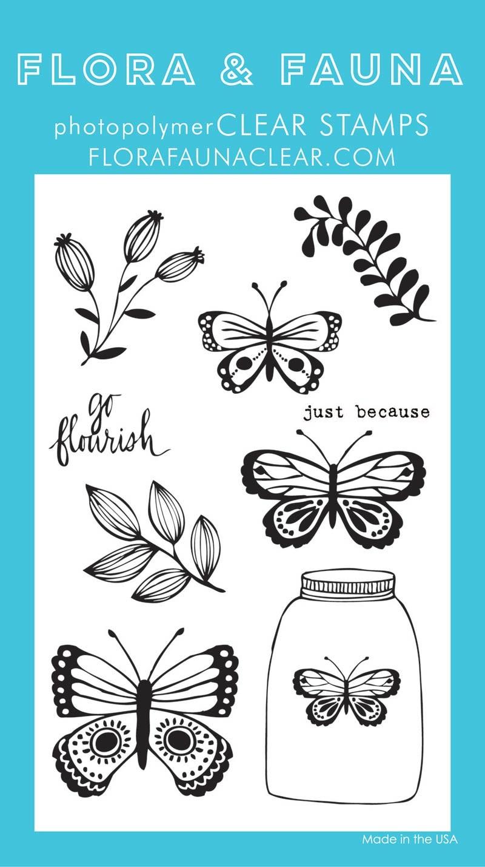 Flora & Fauna Butterfly Jar Set