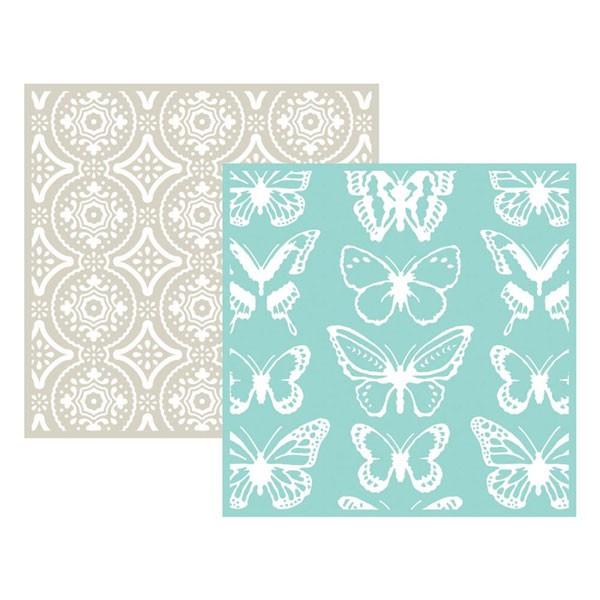 butterfly 6x6 embossing folder