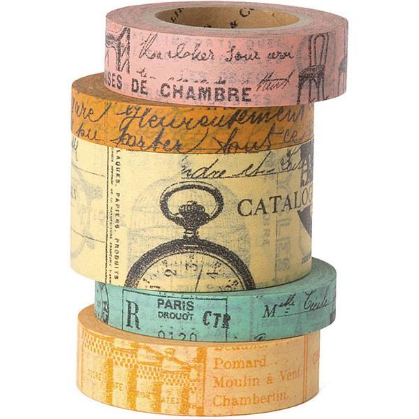 French Ephemera Tape set