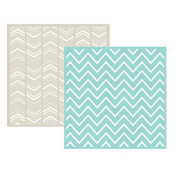 chevron 6x6 embossing folder
