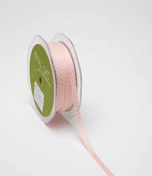 Narrow Pink Chevron Ribbon