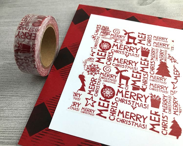 Christmas Word Washi Tape
