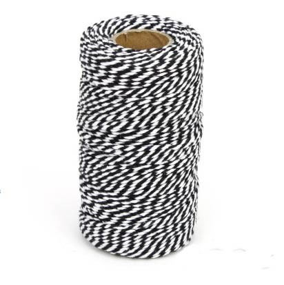 Black and White Chunky Twine Bolt