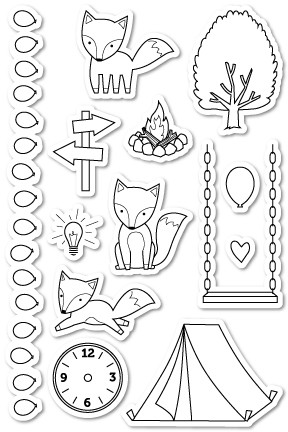 A Fox Tale clear stamp set