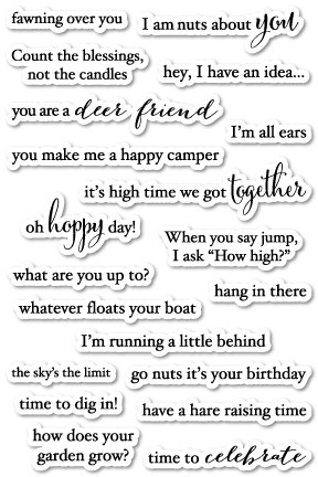 Into the Words clear stamp set
