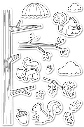 Cover Squirrel clear stamp set