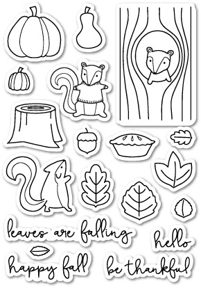 Falling For You Clear Stamp Set