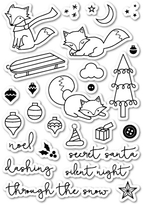 Foxy Holiday Clear Stamp Set