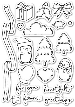 You Keep Me in Stitches Clear Stamp Set