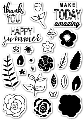 Flower Patch Clear Stamp Set (cl428)