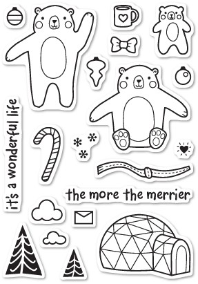 Wintertime Bears Clear Stamp Set CL432