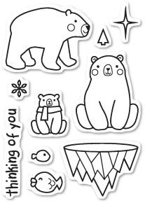 Polar Bear Fun Clear Stamp Set CL434