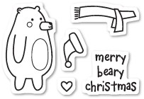 Beary Christmas Clear Stamp Set CL438