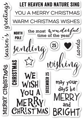 Christmas Greetings Clear Stamp Set CL439