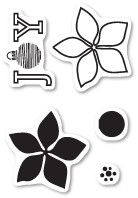 Poinsettia Joy Clear Stamp Set CL441
